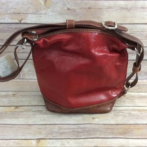 Handbags - Made in Italy Red Leather Shoulder Bag NWT 🇮🇹